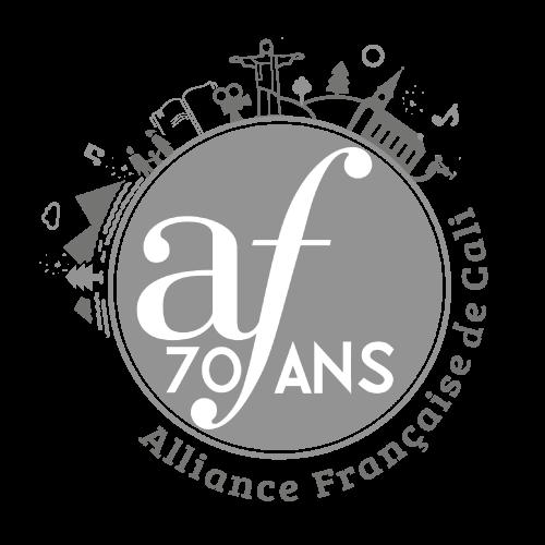 Logosímbolo de la Alianza Francesa en Cali en conmemoración de sus Setenta Años