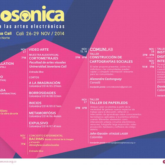 Afiche del Encuentro de Artes Electrónicas Videosonica 2015